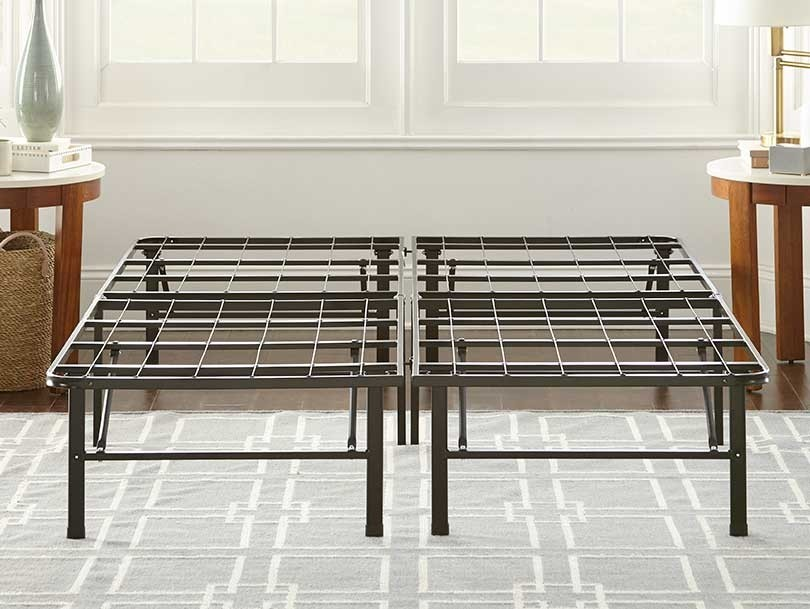 Heavy duty platform bed frame lifestyle image