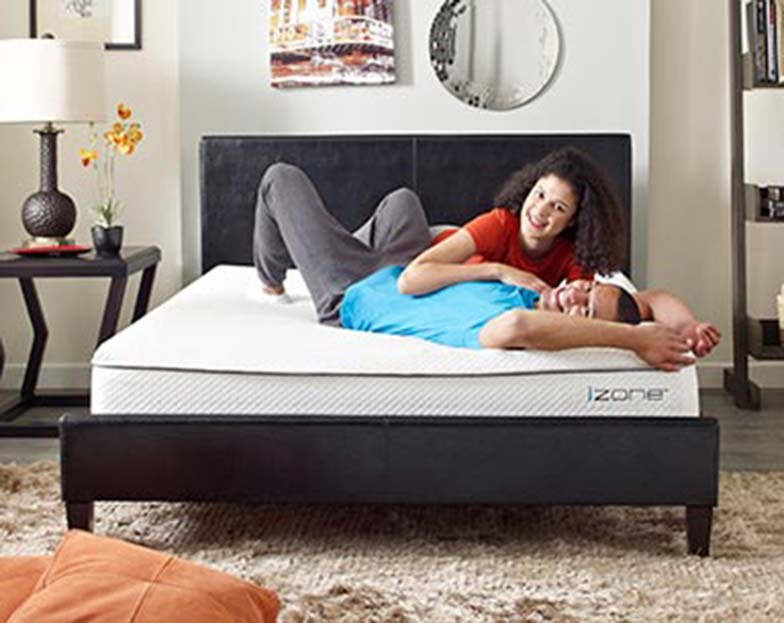Adjustable iZone bed with contouring support
